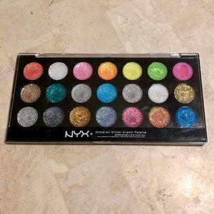 NYX Glitterati Glitter Cream Palette